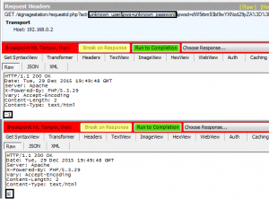 Figure 2 - Spoofing iArtist authentication response