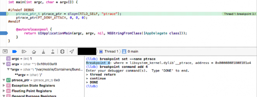 Bypass with well-placed breakpoints using LLDB