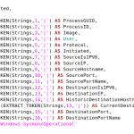 Sample LogParser SQL query