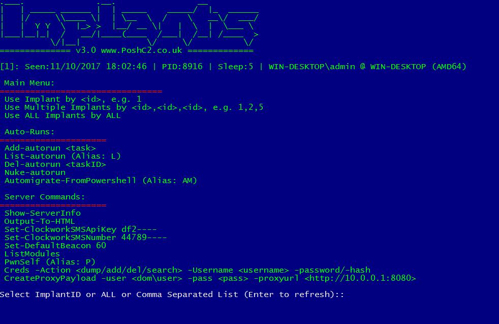 PoshC2 v3 with SOCKS Proxy (SharpSocks) — Nettitude Labs