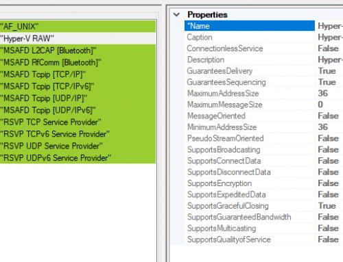 VM Detection Tricks, Part 3: Hyper-V RAW Network Protocol